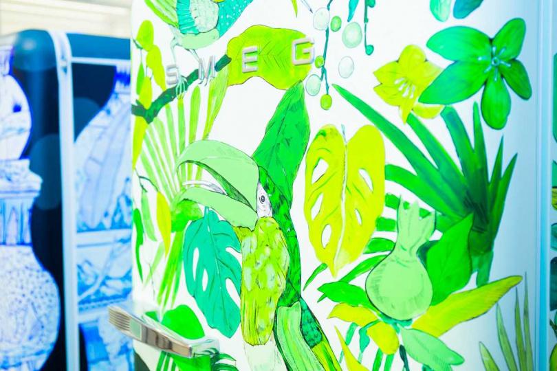 以綠色為主調的狂放(Portrait) 配色俐落清爽。(圖/smeg提供)