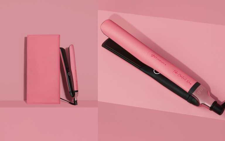 紅粉限定版能精準偵測您頭髮所需,讓髮質強韌度提升70%。ghd 粉紅限定版系列工具ghd platinum+ 新白金造型夾/11,600元(圖/品牌提供)