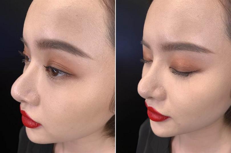 這是模特兒自己單手就完成的單色眼妝!沒想到這麼美的眼妝真的不用花10秒就OK!