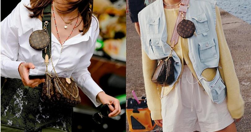 可以搭配寬版織帶創造出休閒街頭感。(圖/翻攝自IG @streetrends、@dahyeshka)