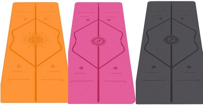 比一般市面上瑜珈墊更長更寬,LIFORME全新限定快樂墊(橘色)和感恩瑜珈墊(經典墊)粉紅、黑色/6,800元。(圖/品牌提供)