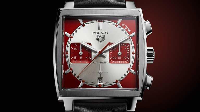 TAG HEUER「MONACO系列」限量版腕錶,精鋼錶殼,39mm,限量1,000只╱227,800元。(圖╱TAG HEUER提供)