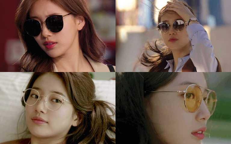 秀智在戲劇《浪行驚爆點》中引來高詢問度的眼鏡、墨鏡造型!(圖/CARIN)