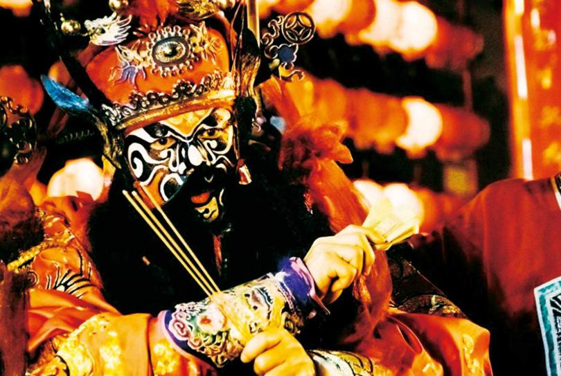 金馬影帝李康生,在片中扮鍾馗捉鬼。(圖/華影國際提供)