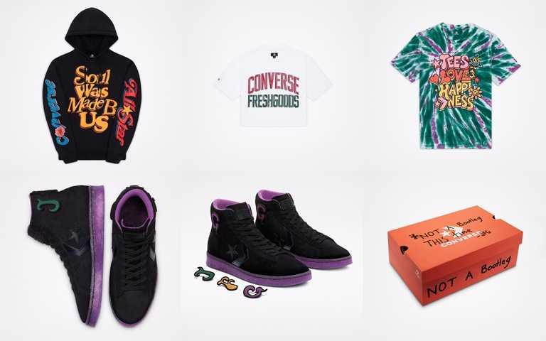 除了聯名鞋款,也推出系列聯名帽T、T恤設計服裝。(圖/品牌提供)