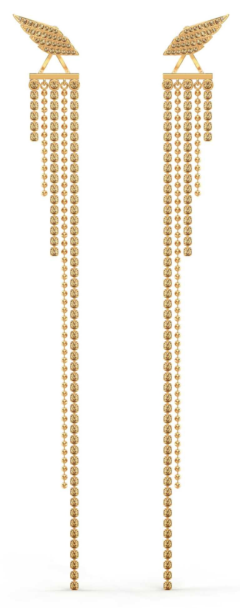 SWAROVSKI「Fit Wonder Woman」水晶流蘇耳環╱7,990元。(圖╱SWAROVSKI提供)