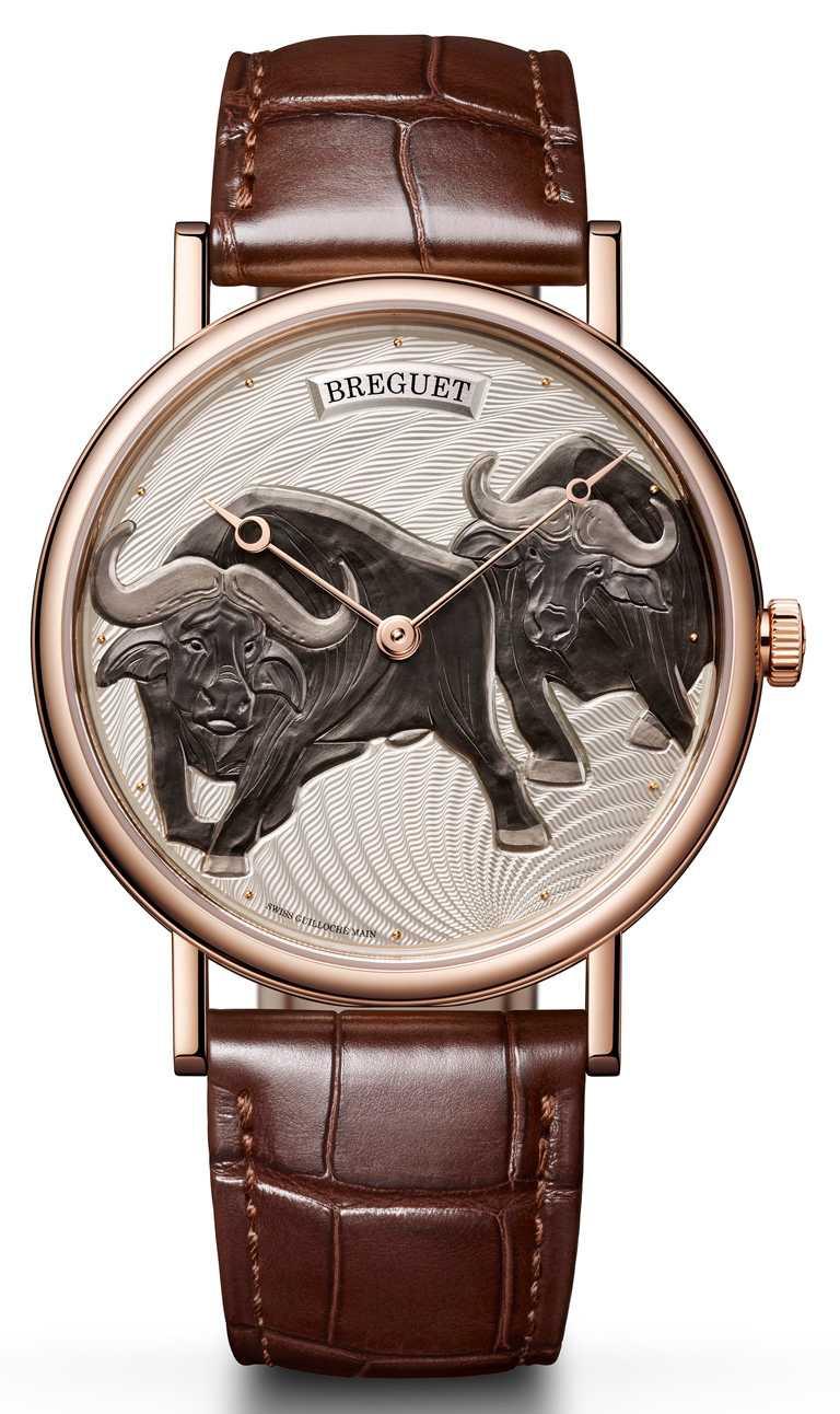 BREGUET「Classique 7145」牛年生肖限量腕錶,40mm,18K玫瑰金錶殼,502.3型自動上鏈機芯,限量8只╱1,586,000元(圖╱BREGUET提供)