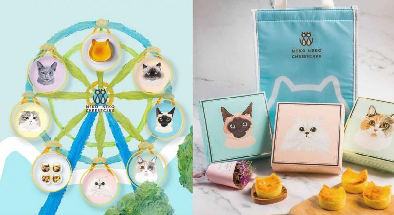 外盒共有六種不同設計,每款都相當可愛。(圖/NEKO NEKO Cheesecake提供)
