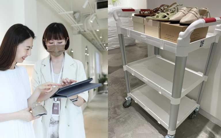 店內超強服務,只要看IPAD就知道你要的鞋有沒有SIZE,不用來回等店員進倉庫拿貨(圖/品牌提供)