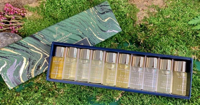 AA心靈探索禮盒/2,300元   3ml大小的10款經典沐浴油,這個大小很適合隨身攜帶。(圖/吳雅鈴攝影)