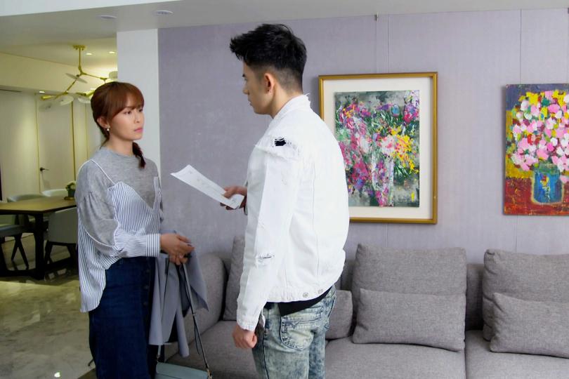 《美味滿閣》林昀希與JR紀言愷談判離婚。(圖/東森)