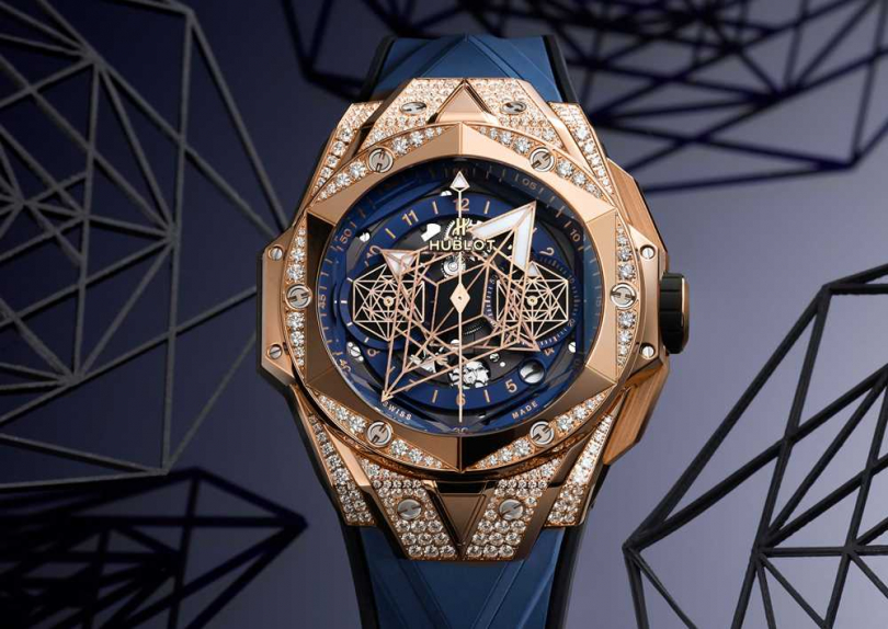 HUBLOT「Big Bang Sang Bleu II」墨藍計時碼錶╱1,469,000元(圖╱HUBLOT提供)