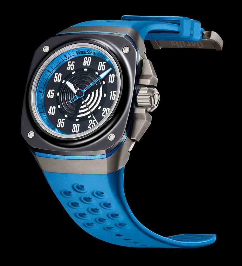 Gorilla「FASTBACK TITANIUM GALAXY BLUE大三針腕錶」,鈦金屬、陶瓷、鍍鋁錶殼╱37,000元(圖╱Gorilla提供)