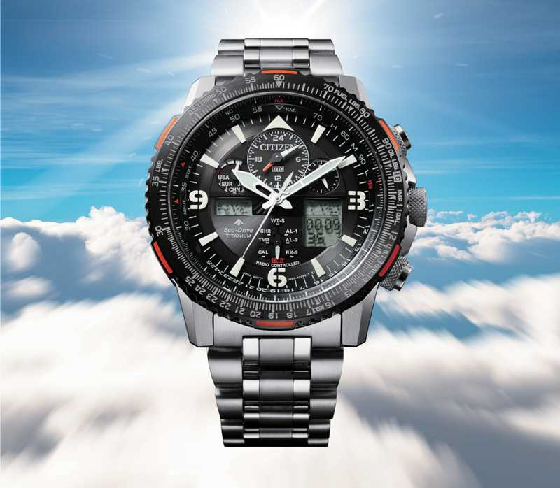 CITIZEN「PROMASTER」鈦金屬飛行腕錶╱35,900元(圖╱CITIZEN提供)