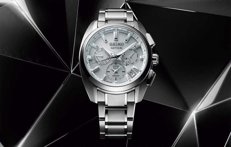 SEIKO「ASTRON GPS SOLAR系列」GPS衛星太陽能雙時區腕錶,鈦金屬錶殼╱2,600歐元(圖╱SEIKO提供)