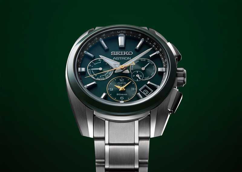 SEIKO「ASTRON GPS SOLAR系列」GPS衛星太陽能雙時區腕錶,鈦金屬錶殼╱2,800歐元(圖╱SEIKO提供)