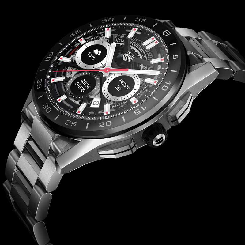 TAG HEUER「CONNECTED智能腕錶」,精鋼錶殼╱63,900元(圖╱TAG HEUER提供)AG HEUER「CONNECTED智能腕錶」,精鋼錶殼╱63,900元(圖╱TAG HEUER提供)
