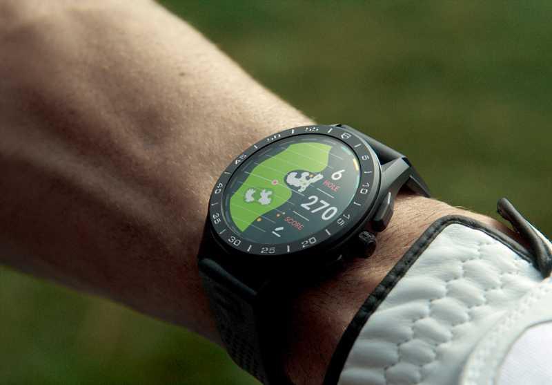 TAG HEUER「CONNECTED」智能腕錶,搭載全新升級的「Sports運動應用程式」,支援高爾夫、跑步、單車、步行、健身等活動,內置機械按鈕,可隨時記錄和顯示速度、步幅、距離、心率、分段時間等資料,追蹤個人運動狀況。(圖╱TAG HEUER提供)