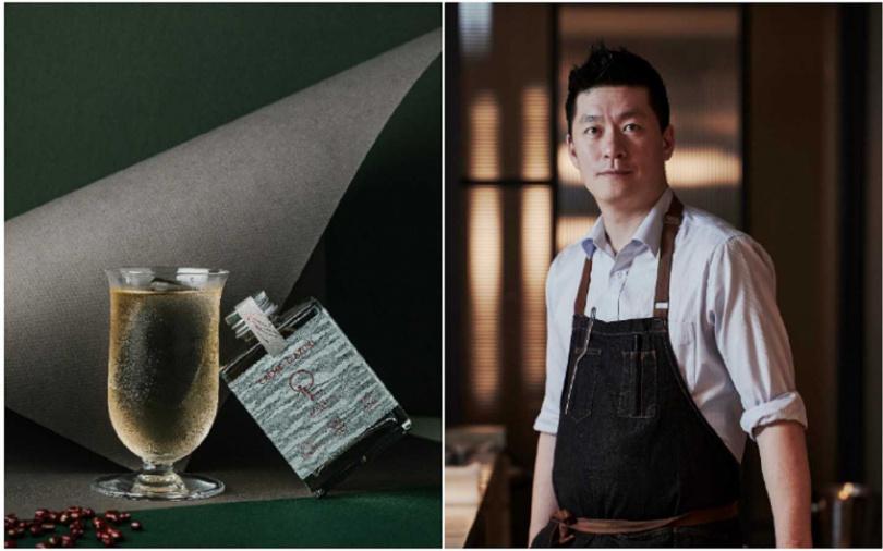 與主廚李暭的Impromptu by Paul Lee合作的酒款「大人味的紅豆奶油捲」(Crème d'Azuki)。(圖/WAT提供)