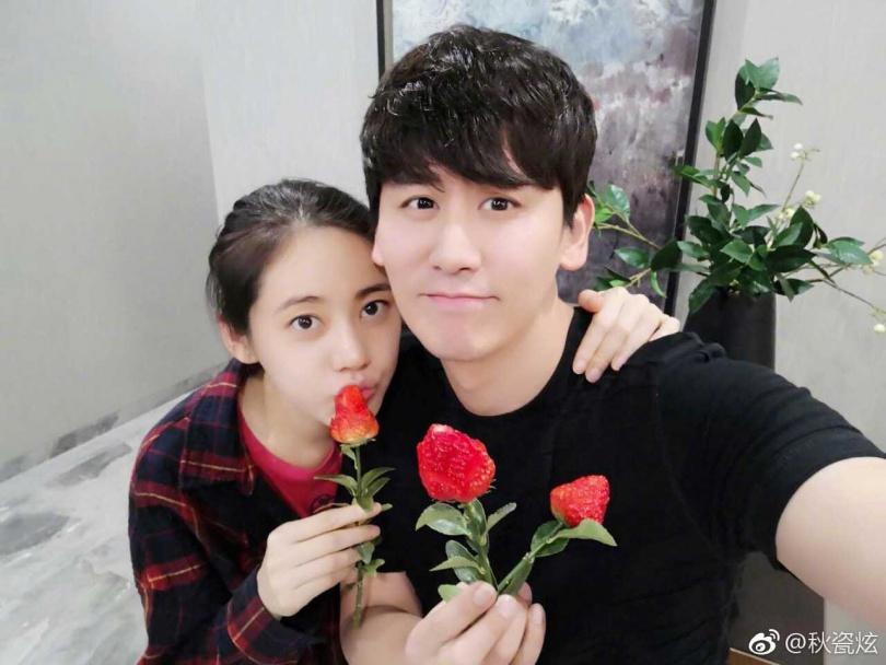 秋瓷炫與于曉光結婚3年,感情甜蜜。(圖/翻攝秋瓷炫微博)