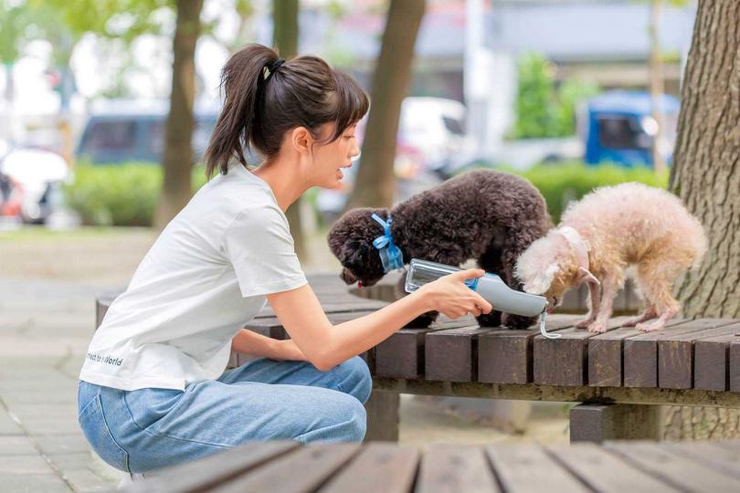 對待毛孩崇尚「以獎勵代替懲罰」的何紫妍,認為只有主人的問題,沒有狗狗的問題。(圖/林士傑攝)