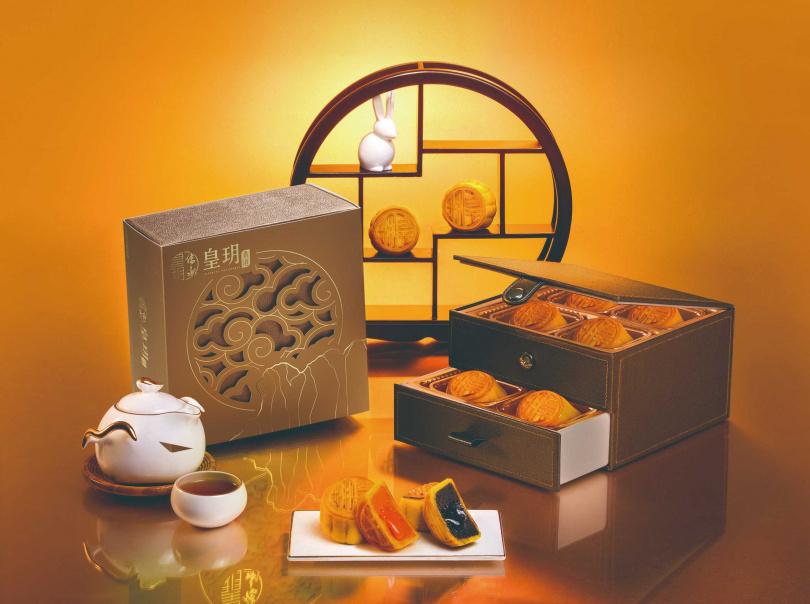 皇玥月餅全球唯一連續兩年得到食品界諾貝爾Monde Selection最高金獎殊榮。(圖/皇玥餅藝、萬豪酒店)