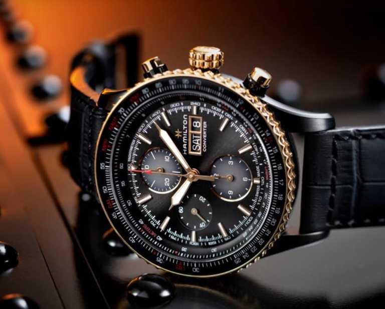 漢米爾頓「Khaki Aviation卡其飛行」系列「Converter Auto Chrono」計時碼錶,44mm╱68,300元。(圖╱HAMILTON提供)