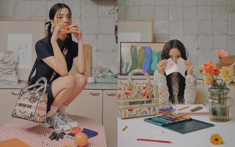 Jisoo智秀拍攝Lady Dior系列大片,清純又放空的享受一個人在家玩耍的藝術感(圖/品牌提供)