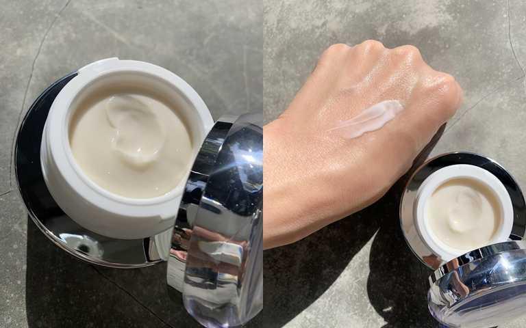 ALBION妃思雅美肌之源精華霜 30g/6,550元  能快速被肌膚吃進去並徹底吸收。(圖/吳雅鈴攝影)