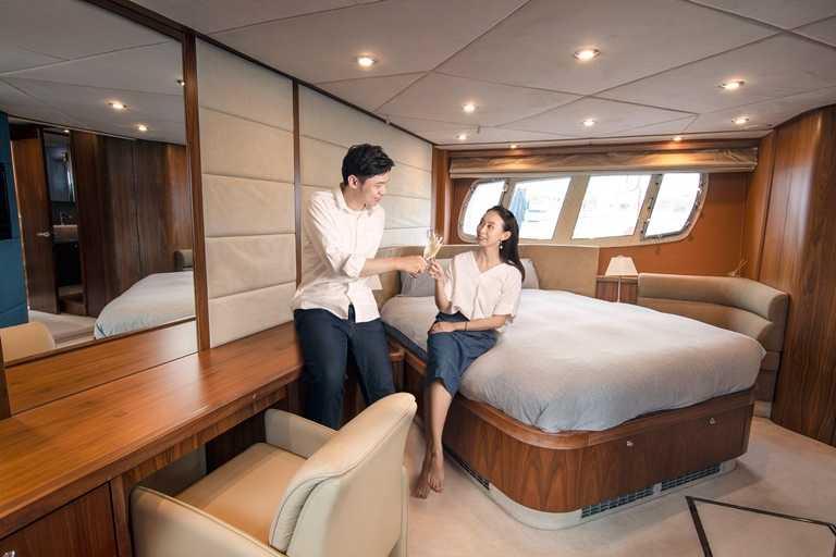 豪華遊艇設備齊全,能讓消費者一次體驗海陸兩種住宿的感受。