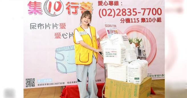 許維恩呼籲每人1日捐1片尿布,每月300元,永續支持。(攝影/張祐銘)