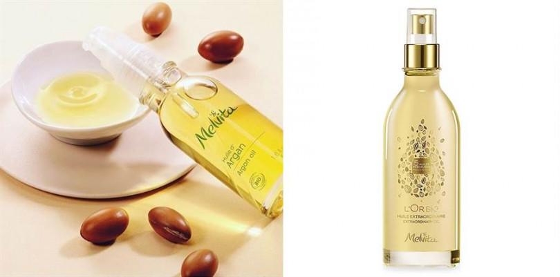 Melvita蜜葳特「摩洛哥堅果油」(左) 50ml/NT1380 Melvita蜜葳特「純菁護理油」(右)100ml/NT1880