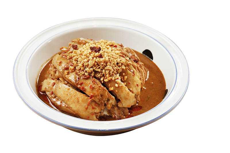 香辣鹽焗口味的「流口水雞」,是開飯超人氣必點料理。(360元)(圖/于魯光)