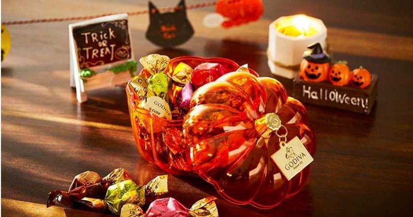 萬聖節巧克力南瓜形禮盒。(圖/GODIVA提供)