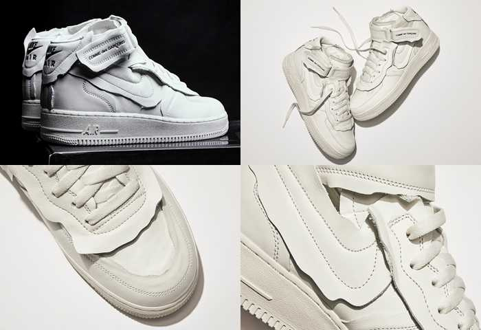 NIKE x COMME des GARCONS聯名款已在限定海外通路販售中。(圖/Sneaker News)