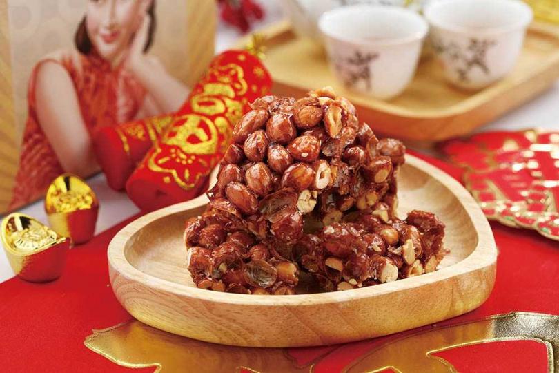 「靚hó」的「08真的酥」糖分不到2%,吃得到濃郁花生香氣。(200元/盒)(圖/于魯光攝)