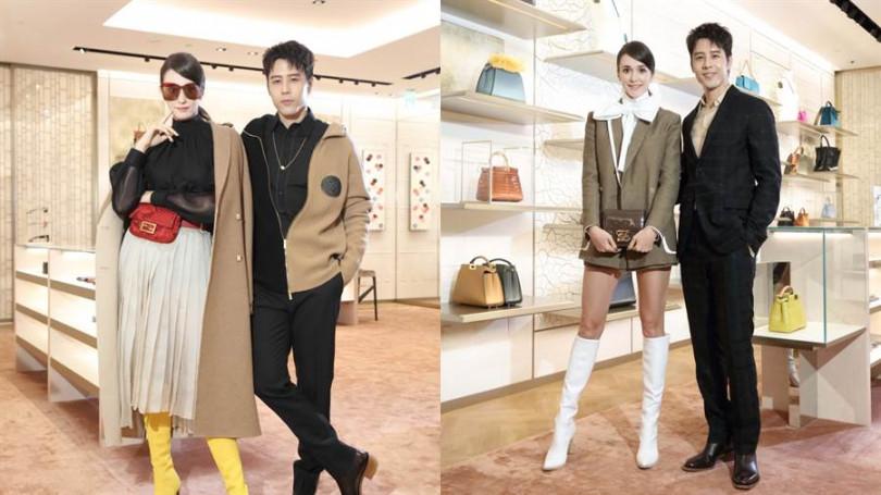 品牌邀來胡宇威、瑞莎同台演繹2019秋冬最新設計。