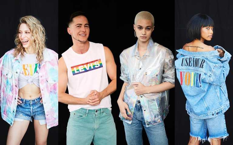 平權系列將彩虹色系驕傲地融入設計中,利用繽紛視覺搶眼發聲。(圖/LEVI'S)