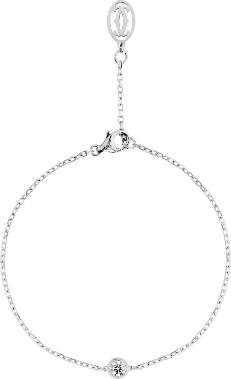 Cartier「Légers de Cartier系列」鑽石手鍊╱25,100元。(圖╱Cartier提供)