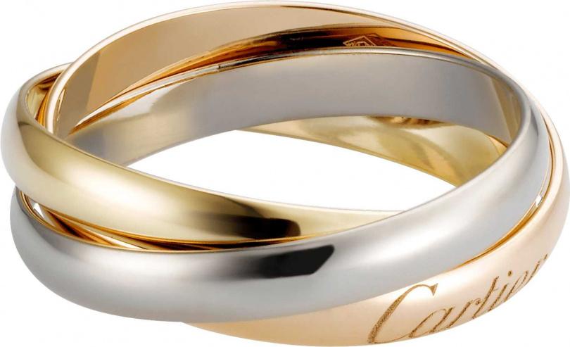 Cartier「Trinity de Cartier系列」三色金戒指╱34,500元。(圖╱Cartier提供)
