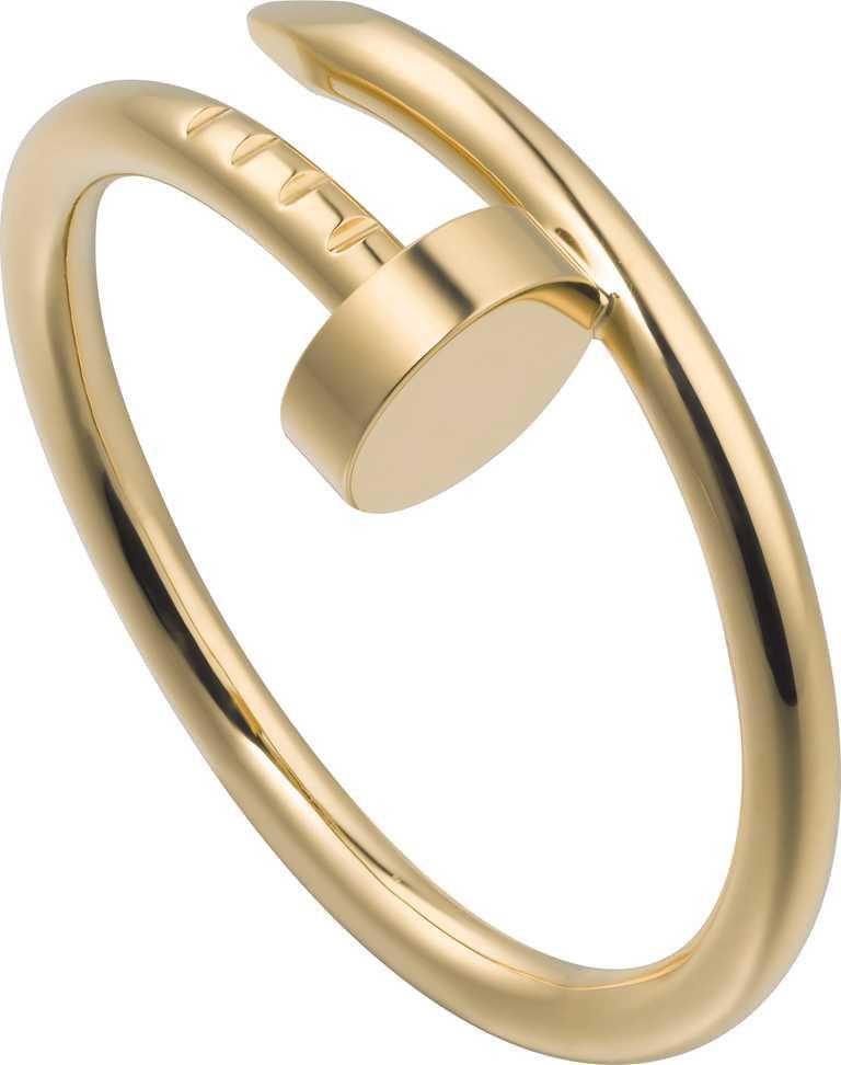 Cartier「Juste un Clou系列」黃K金戒指╱34,500元。(圖╱Cartier提供)