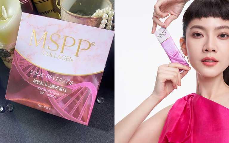 美神契約mspp®超胜肽多元膠原蛋白/990元  喬喬說除了可以直接單吃,她也會加在果汁或開水裡一起喝喔。(圖/吳雅鈴攝影、品牌提供)