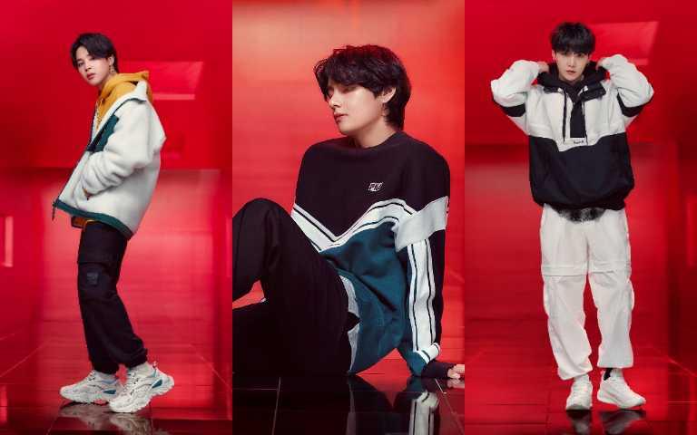 忠孝SOGO、台北信義A11、台茂、新竹櫃點將設有BTS成員人形立牌,粉絲別忘了踩點喔!(圖/FILA)