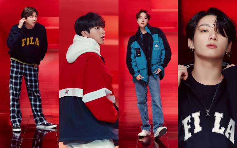 BTS成員親身示範Go Beyond系列穿出個人獨特魅力!(圖/FILA)