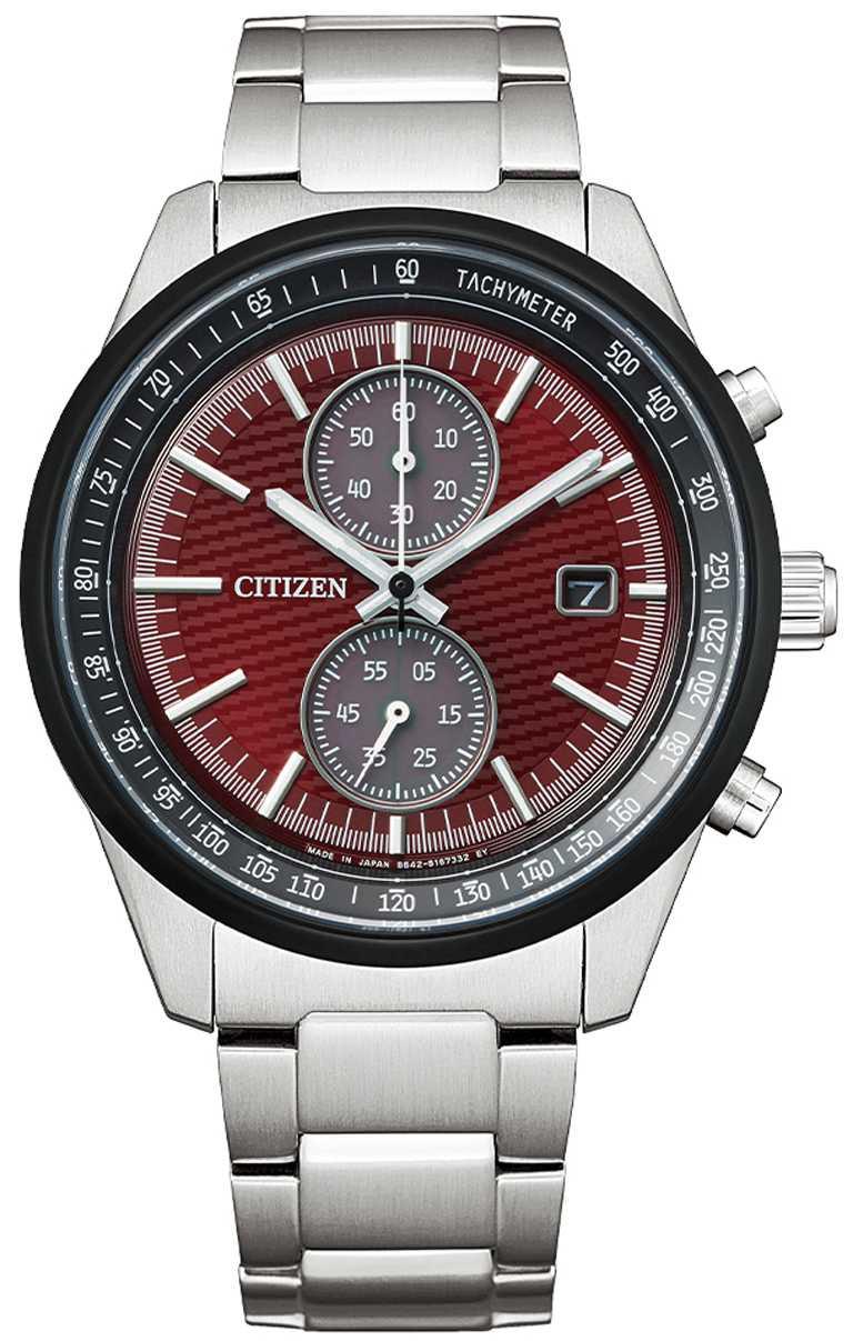 全新CITIZEN「CA7034-96W」光動能碼錶計時腕錶「東京‧紅」限量版,鈦金屬錶殼,光動能,41mm╱16,800元。(圖╱CITIZEN提供)