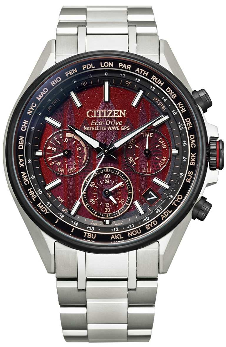 CITIZEN「CC4005-71Z」旗艦光動能GPS衛星對時腕錶「東京‧紅」限量版,鈦金屬錶殼,光動能44mm╱69,800元。(圖╱CITIZEN提供)