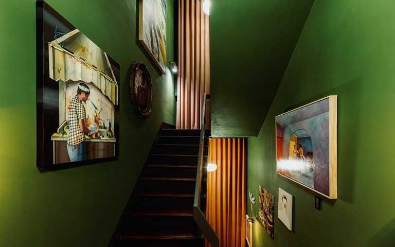 「奇幻階梯空間」集結多位各國合作藝術家的作品,遊逛其中便可窺知「伊日藝術計劃」的獨特風格。