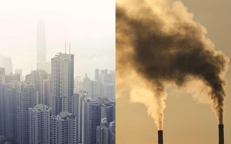 像之前的霧霾導致天空一片灰濛濛,這種時候還是待在室內最安全。(圖/翻攝網路)