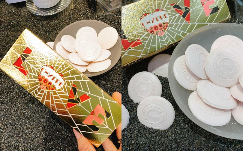 CLAUS PORTO馬卡龍香皂禮盒Heart Edition 10gx15/950元  有15片香氛皂,能擺放在不同場合。(圖/吳雅鈴攝影)