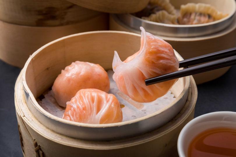 水晶鮮蝦餃。(圖/華漾Dim Sum提供)